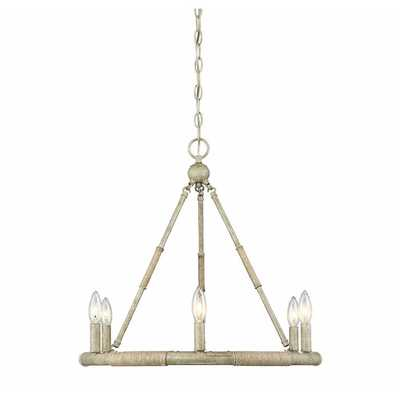 Miley 6 - Light Candle Style Wagon Wheel Chandelier with Rope Accents - Wayfair
