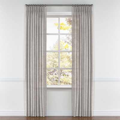 Pinch Pleat Drapery  Linen Sheer - Dim Gray - Loom Decor