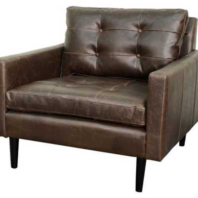 New Pacific Direct Inc Ritchie Leather Accent Chair - Hayneedle