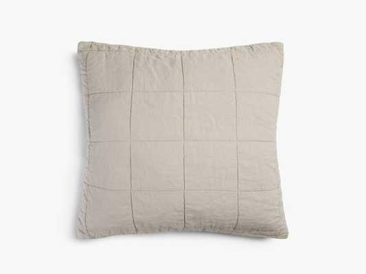 Quilted Linen Euro Sham in Bone | Parachute - Parachute