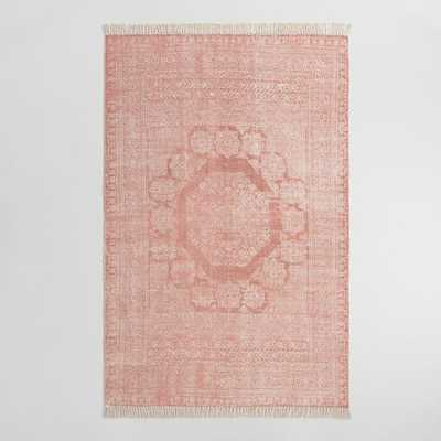 Blush Cotton Dhurrie Print Ariana Area Rug - 8Ftx10Ft by World Market 8Ftx10Ft - World Market/Cost Plus