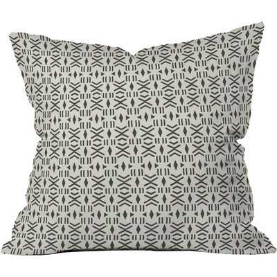 GEO MUDCLOTH Throw Pillow 18x18 w/insert - Wander Print Co.