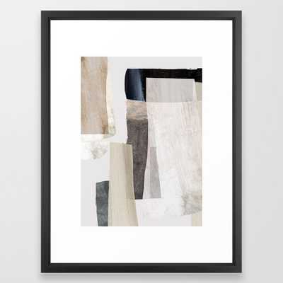 "Clay Framed Art Print- Vector Black, 20""x26"" - Society6"