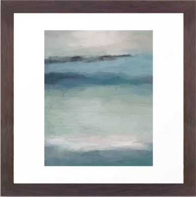 Abstract Painting, Light Blue, Teal, Sage Green Prints Modern Wall Art, Affordable Stylish Framed Art Print - Society6