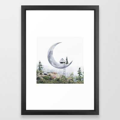 Moon House Framed Art Print - Society6