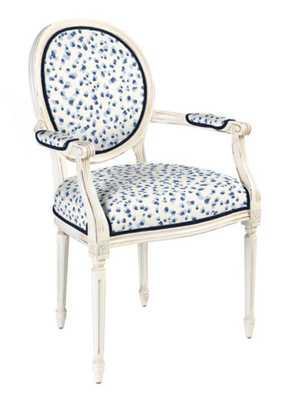 Oval Back Louis XVI ArmChair - Mira Blue - Ballard Designs
