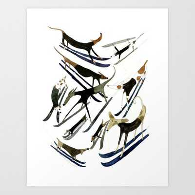 Beatnik Dogs Skiing Art Print - Society6