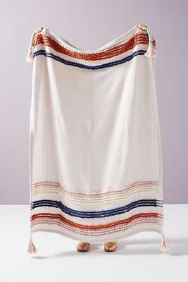 Soft Century Woven Stripe Blanket - Anthropologie