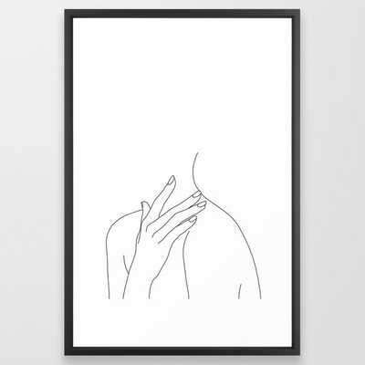 Female body line drawing - Danna Framed Art Print by Thecolourstudy - Society6