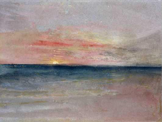 Sunset by J. M. W. Turner Canvas - art.com