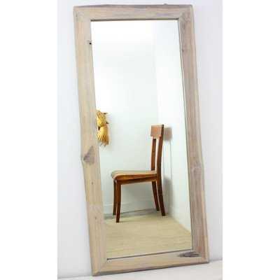 Demartini Teak Rectangle Mirror - Wayfair