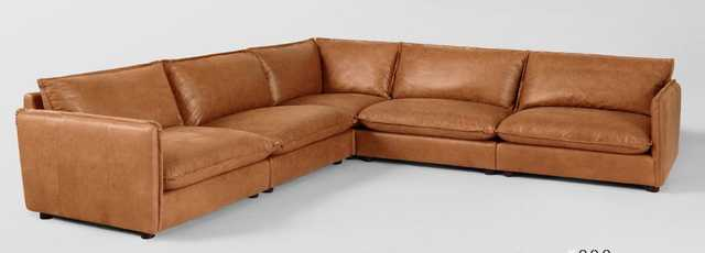 Neva Modular Leather Corner Sectional - Sixpenny