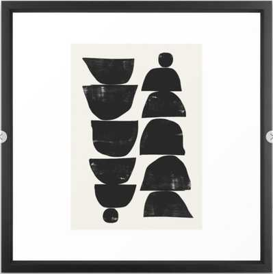 "Minimal Plant Framed Art Print 22"" x 22"" - Society6"
