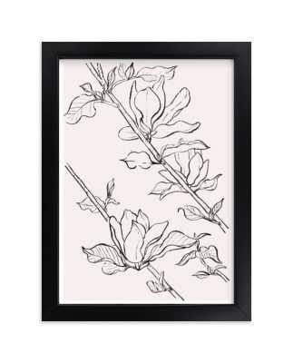 magnolia study - 5 x 7 peach - Minted