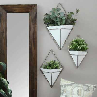 Cordero 3-Piece Metal Wall Planter Set - Wayfair
