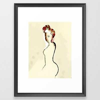 Red Head Framed Art Print - Society6