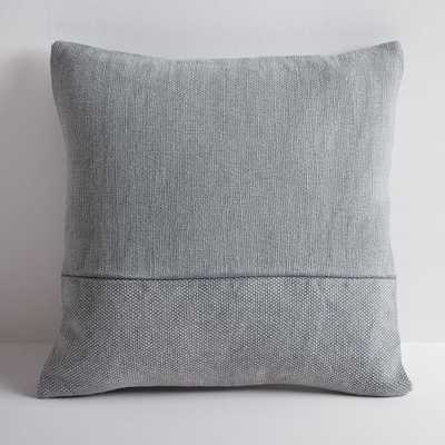 "Cotton Canvas Pillow Cover & Down-Insert, Iron, 18""x18"" - West Elm"