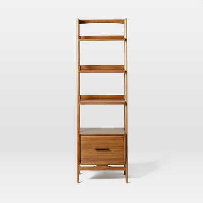 Mid-Century Bookshelf, Narrow Tower, Acorn - West Elm