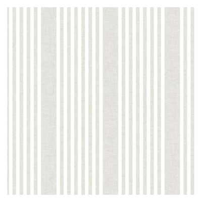 French Linen Stripe Sure Strip Wallpaper - York Wallcoverings