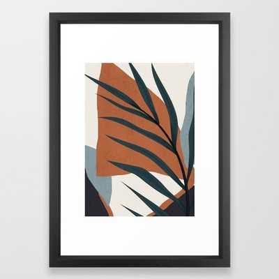 "Abstract Art 35 Framed Art Print by ThingDesign- 15""x21"" vector black - Society6"