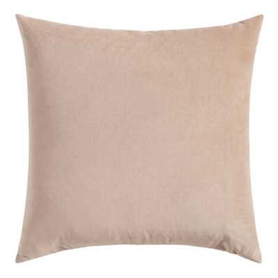 Tan Velvet Throw Pillow - World Market/Cost Plus