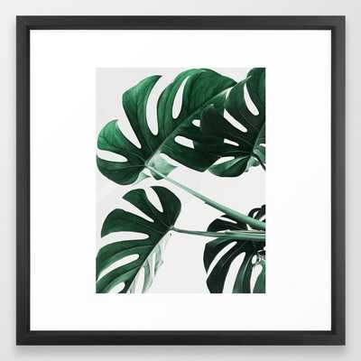 Monstera, Leaves, Plant, Green, Scandinavian, Minimal, Modern, Wall art Framed Art Print - Society6