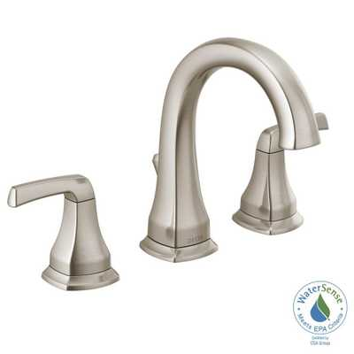Portwood 8 in. Widespread 2-Handle Bathroom Faucet in SpotShield Brushed Nickel - Home Depot