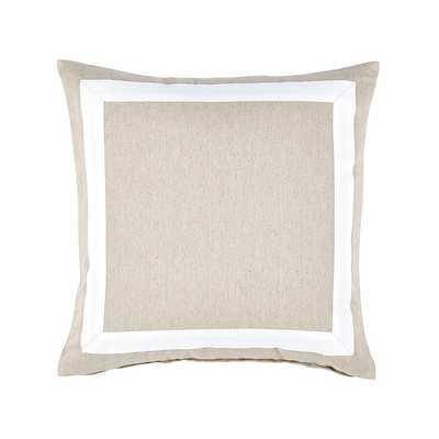 """Bordered Linen Pillow, 20"""" - Ballard Designs"""
