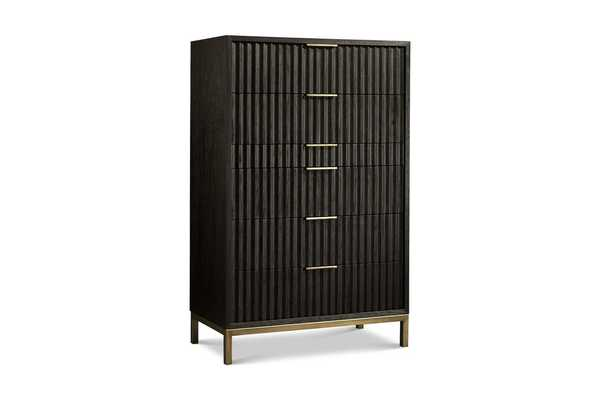Westmont Chest BLACK/BRUSHED STEEL-tall - Apt2B