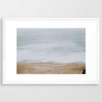 "seashore iii / california Framed Art Print, 26""x38"", Vector White - Society6"