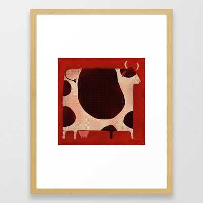 BOVINE Framed Art Print - 20x26, frame conservation natural - Society6