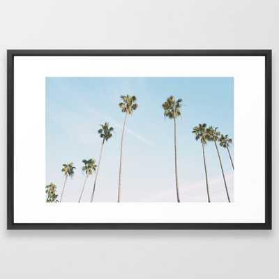 Beach Palms Framed Art Print - Society6