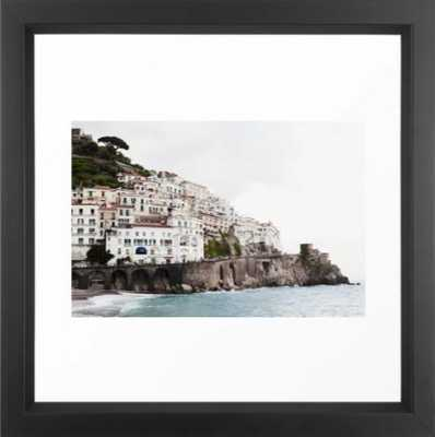 Amalfi Coast Framed Art Print - Vector white - 12 x 12 - Society6