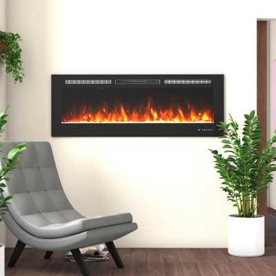 Millner Recessed Wall Mounted Electric Fireplace - Wayfair
