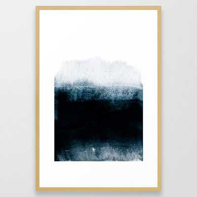 Into The Deep Framed Art Print by Iris Lehnhardt - Conservation Natural - LARGE (Gallery)-26x38 - Society6