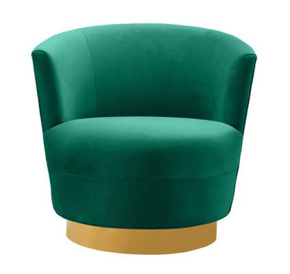 Raegan Green Swivel Chair - Maren Home