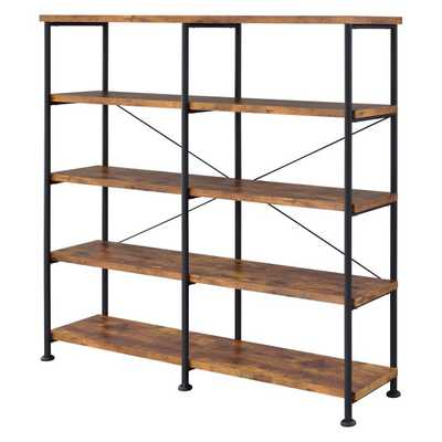 Coaster Furniture Analiese Collection Wide Bookcase - Hayneedle