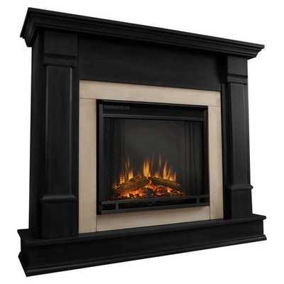 Silverton Electric Fireplace in Black - Wayfair