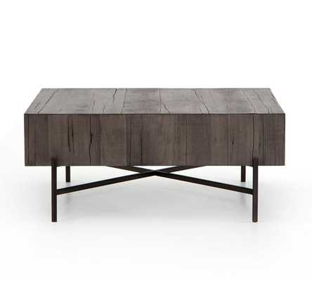 "Fargo 41"" Square Reclaimed Wood Coffee Table - Pottery Barn"
