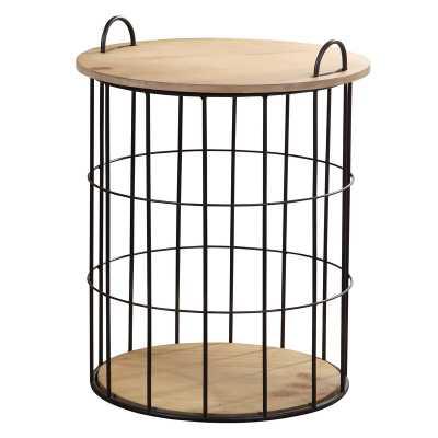 Oakridge Basket End Table - Wayfair