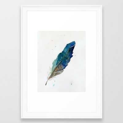 Feather Framed Art Print - Society6