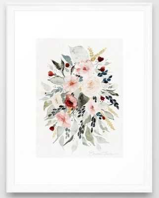 Loose Watercolor Bouquet Framed Art Print - 20x26 - Society6