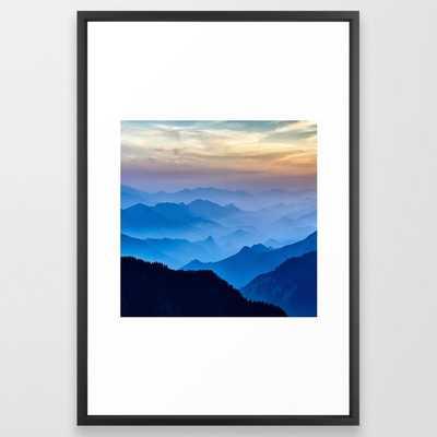 Mountains 11 Framed Art Print - Society6