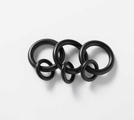 PB Standard Round Rings, Set of 10, Small, Antique Bronze Finish - Pottery Barn