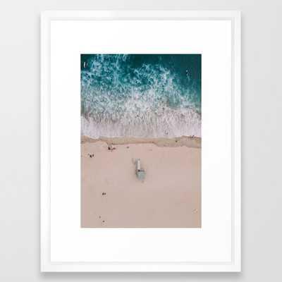 "From Above | Lifeguard tower Venice Beach, California Framed Art Print 15 x 21"" - Society6"