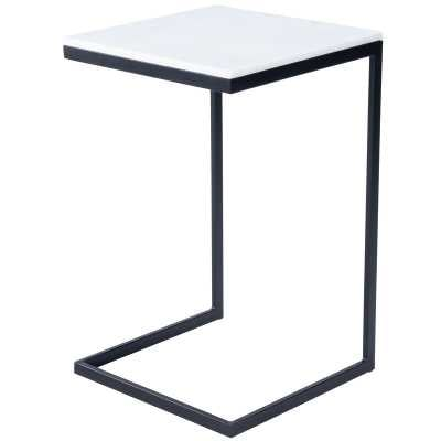 Marble Top C End Table / Black - Perigold