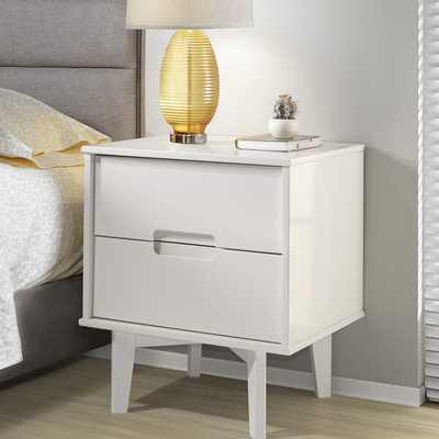 Gartner Groove Handle Wood 2 Drawer Nightstand - Wayfair