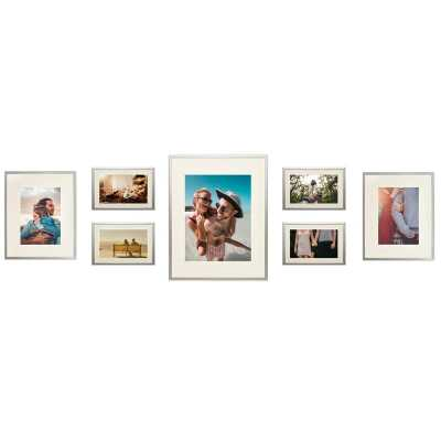 Alisson 7 Piece Gallery Wall Aluminum Picture Frame Set - Wayfair