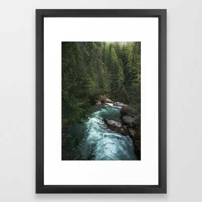 The Lost River - Pacific Northwest Framed Art Print by Cascadia - Society6