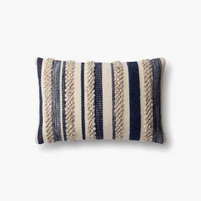 P1022 MH NAVY / IVORY Pillow - With poly Insert - Loma Threads